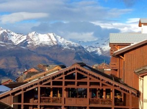 View from my balcony over Mont Blanc